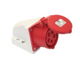 CEE 32A opbouw wand contactdoos 5P 380V - 400V