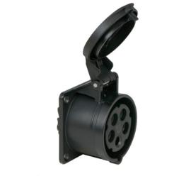 CEE 16A opbouw contactdoos zwart 380V - 400V