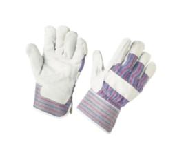Werkhandschoenen splitleder grijs maat L