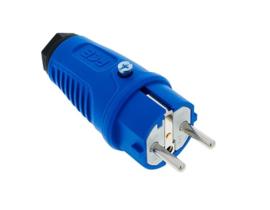 PCE Taurus2 rubber stekker blauw 230V