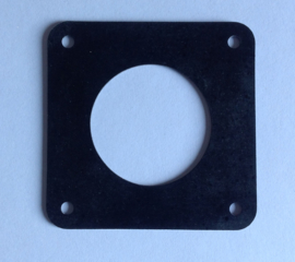 flens rubber 70 x 70 mm zwart