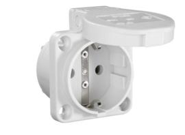 Inbouw contactdoos grijs 230V 16A IP54