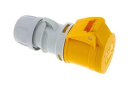 PCE CEE 16A contrastekker geel 110V AC