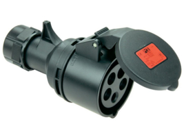 CEE 16A contrastekker zwart 380V - 400V
