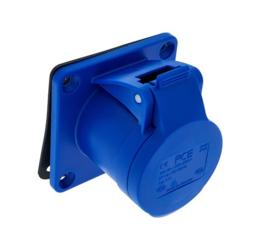 CEE 16A opbouwdoos 3-polig blauw 230V