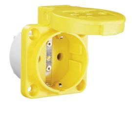 Inbouw contactdoos geel 230V 16A IP54