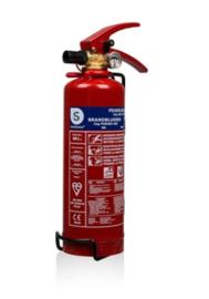 Brandblusser poederblusser met drukmeter 2 kg