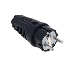 PCE Taurus2 rubber stekker zwart 230V