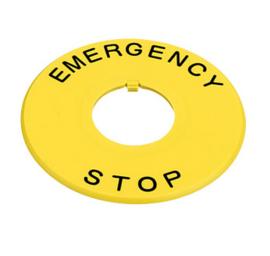 Naamplaat Emergency Stop 60 mm