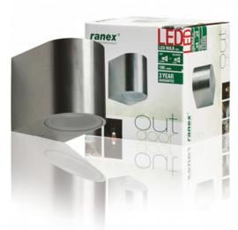 Ranex Kimi rvs wandlamp led 3 Watt 230 lumen 230V