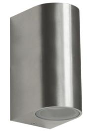 Ranex Kimi rvs wandlamp led 2x 3 Watt 230V
