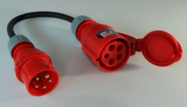 CEE 16A verloop stroom adapter naar CEE 32A 380V - 400V