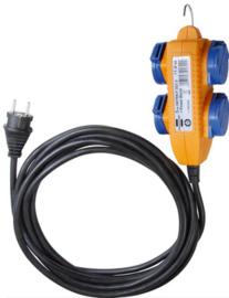 Brennenstuhl 4 voudige verdeeldoos met 10 meter kabel 230V