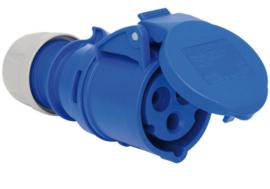 CEE 16A contrastekker 3P 230V blauw