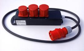 PCE CEE 32A volrubber stroomblok  380V - 400V
