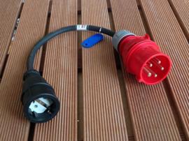 CEE 16A verloopadapter 400V naar 230V AC