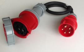 CEE 63A - 32A verloop stroomadapter 380V - 400V IP44
