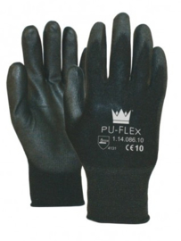 PU-flex werkhandschoenen zwart