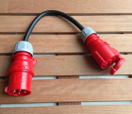 CEE 32A verloop stroom adapter 4-polig 400V