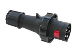 CEE 63A stekker zwart 380V - 400V