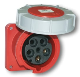 CEE 63A opbouw contactdoos recht 380V - 400V AC IP67