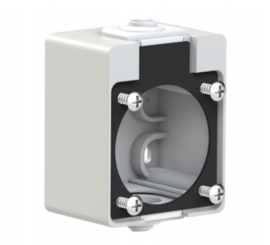 PCE behuizing grijs voor inbouw contactdoos 230V