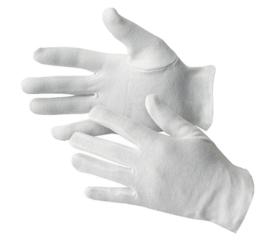 Katoenen handschoenen wit