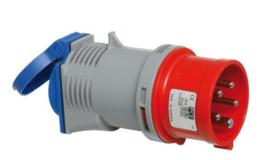 CEE verloopadapter 16A 400V naar 230V IP44