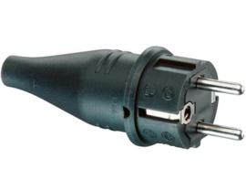 ABL rubber stekker zwart 230V AC 16A