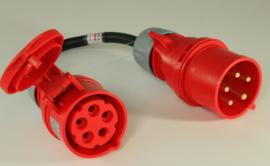 CEE 32A verloop stroom adapter 380V - 400V Heavy Duty