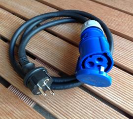 CEE 16A adapter kabel 3G2,5mm2 230V