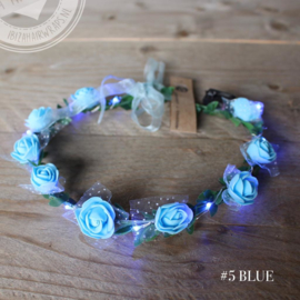 Ledlight haarband Blauw