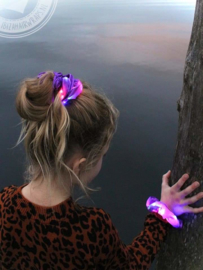 Scrunchie met ledlight Purple