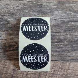 Sticker Voor de beste Meester