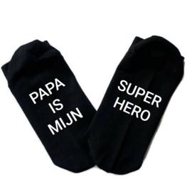 Sokken Papa is mijn Super Hero