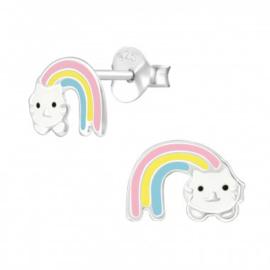 Kinderoorbel Regenboog kat