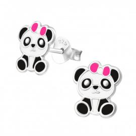Oorbellen Panda Roze
