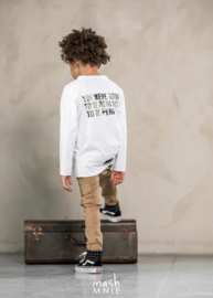 White Longsleeve  You were born to be real/ wit