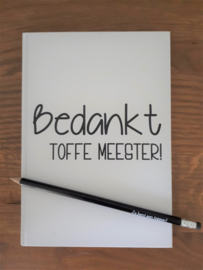 Notitieblok met potlood Meester