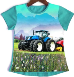 Tractor T shirt Turquoise