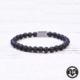 Lavastone Black 6 mm