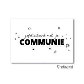 Kaart Gefeliciteerd met je Communie