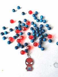 DIY armband Superheld blauw/rood
