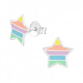 Oorbellen Regenboog sterren