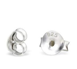 Extra achterkant oorbel 925 zilver