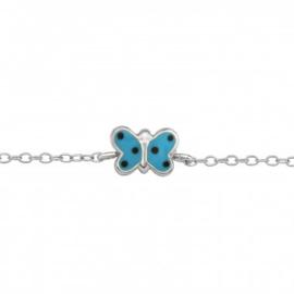 Kinderarmband Vlinder met stippen