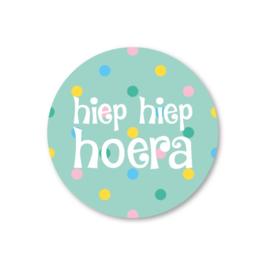 Sticker Hiep Hiep Hoera
