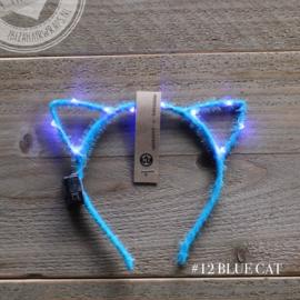 Diadeem Kattenoortjes Led Blauw
