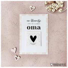 Kaart met bloemzaadjes liefste Oma ♥