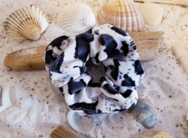 Scrunchie Leopard Dark Grey